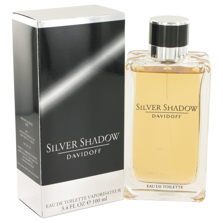 Silver Shadow by Davidoff for Men Eau De Toilette Spray 3.4 oz