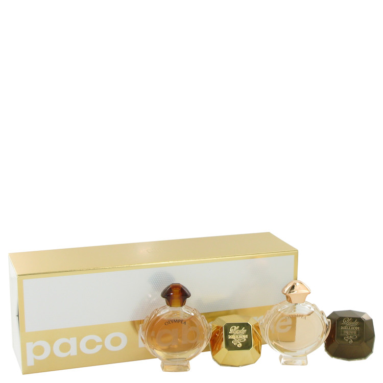 Olympea by Paco Rabanne for Women Gift Set -- Travel Size Mini Set Includes Lady Million, Lady Million Prive, Olympea, Olympea I