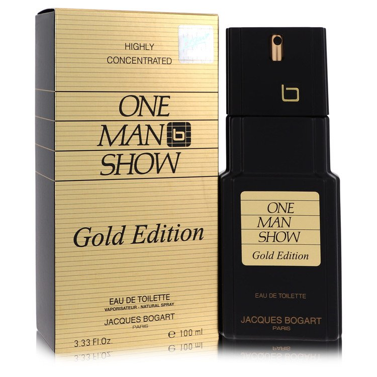 One Man Show Gold Cologne by Jacques Bogart 3.3 oz EDT Spay for Men