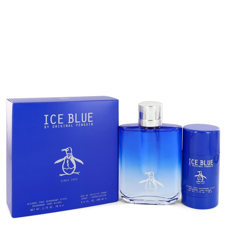 Original Penguin Ice Blue by Original Penguin Gift Set — 3.4 oz Eau De Toilette Spray + 2.75 oz Deodorant Stick