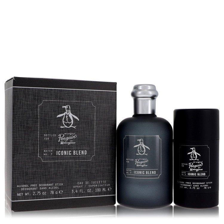 Original Penguin Iconic Blend by Original Penguin Men's Gift Set -- 3.4 oz Eau De Toilette Spray + 2.75 oz Deodorant Stick