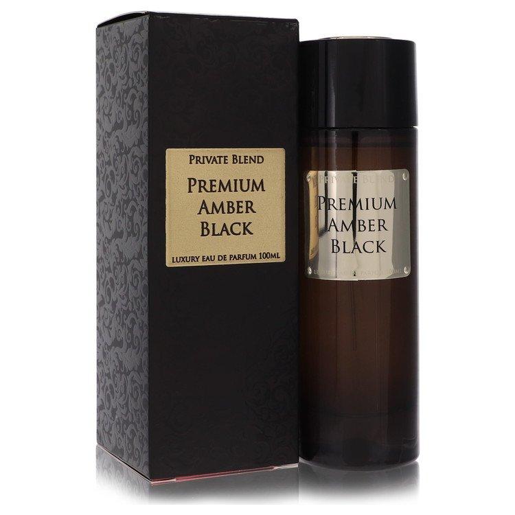 Private Blend Premium Amber Black by Chkoudra Paris –  Eau De Parfum Spray 3.4 oz 100 ml for Men