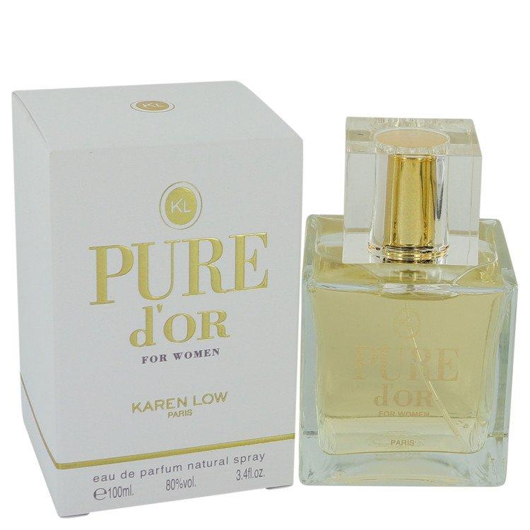 Pure D'or by Karen Low for Women Eau De Parfum Spray 3.4 oz
