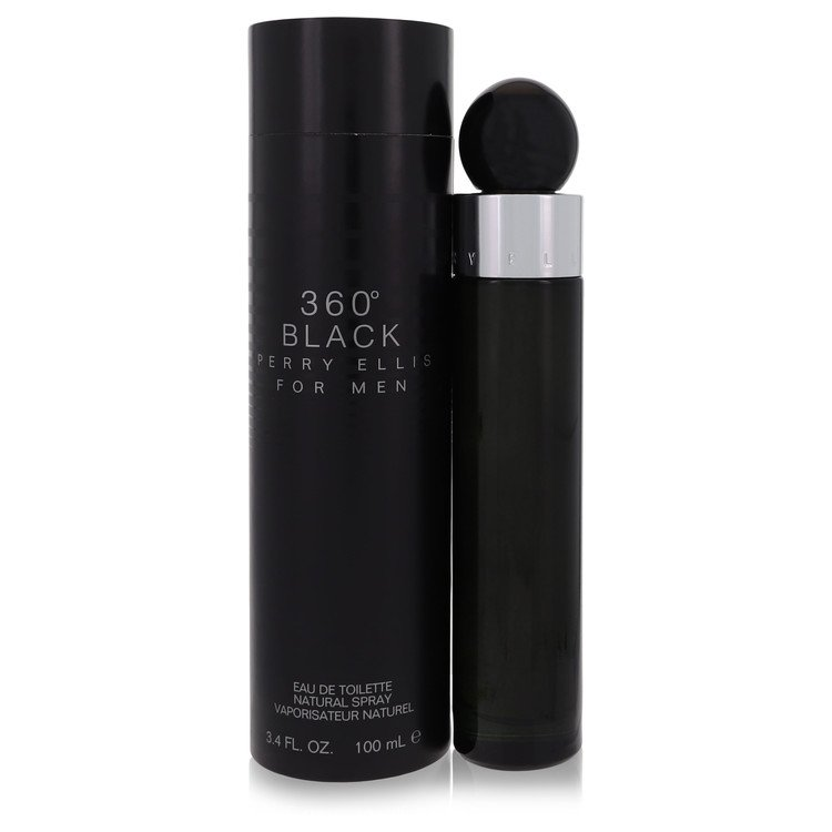 Perry Ellis 360 Black by Perry Ellis for Men Eau De Toilette Spray 3.4 oz