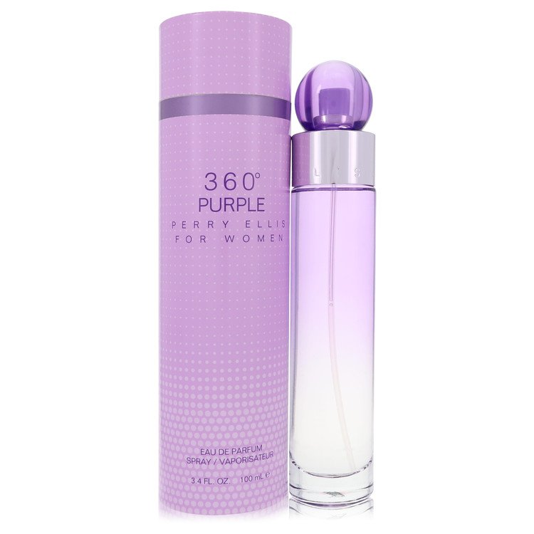 Perry Ellis 360 Purple by Perry Ellis for Women Eau De Parfum Spray 3.4 oz