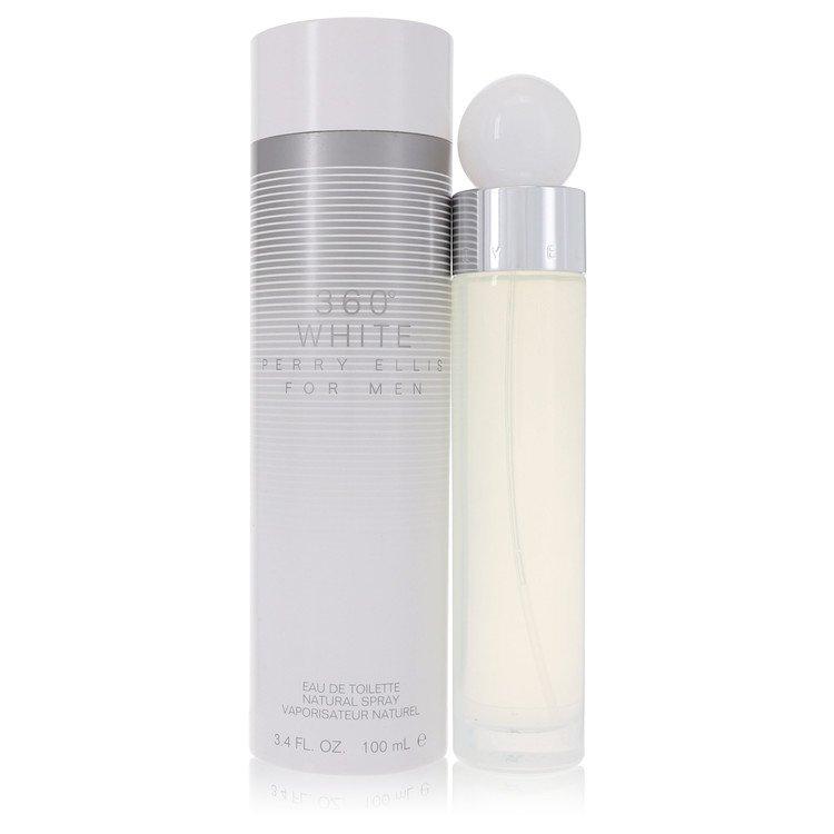 Perry Ellis 360 White by Perry Ellis for Men Eau De Toilette Spray 3.4 oz