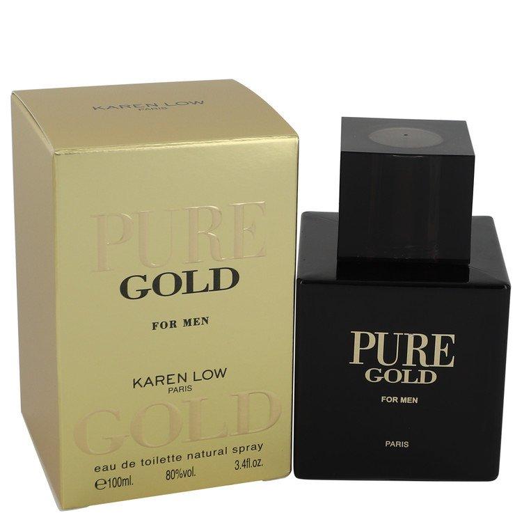 Pure Gold by Karen Low for Men Eau De Toilette Spray 3.4 oz