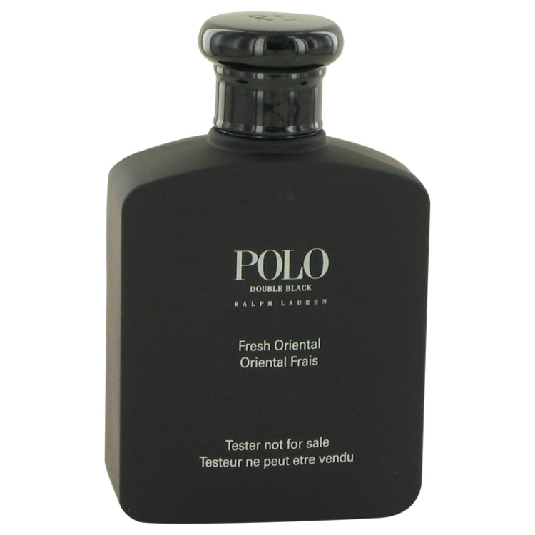 Polo Double Black by Ralph Lauren for Men Eau De Toilette Spray (Tester) 4.2 oz
