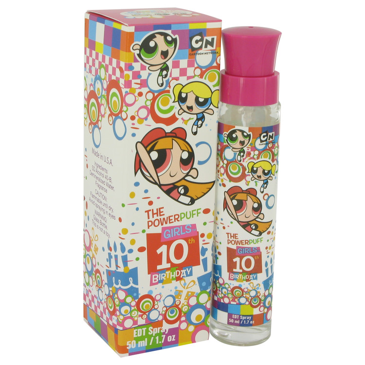 Powerpuff Girls 10th Birthday by Warner Bros for Women Eau De Toilette Spray 1.7 oz
