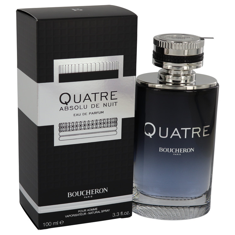 Quatre Absolu De Nuit by Boucheron for Men Eau De Parfum Spray 3.3 oz