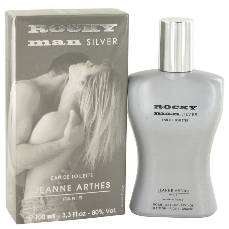 Rocky Man Silver by Jeanne Arthes for Men Eau De Toilette Spray 3.3 oz