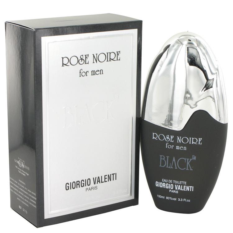 Rose Noire Black by Giorgio Valenti for Men Eau De Toilette Spray 3.3 oz