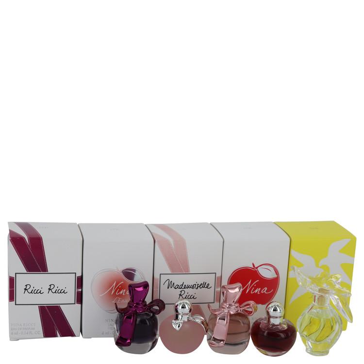 Ricci Ricci by Nina Ricci for Women Gift Set -- Five piece mini set includes Ricci Ricci, Nina L'eau, Mademoiselle Ricci, Nina,