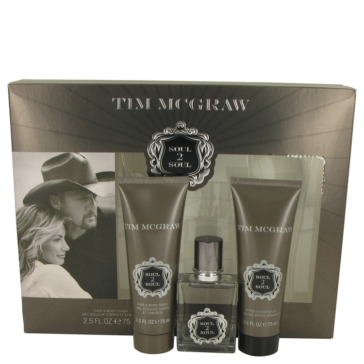 Soul 2 Soul for Men, Gift Set (1 oz EDT Spray + 2.5 oz After Shave Balm + 2.5 oz Shower Gel)