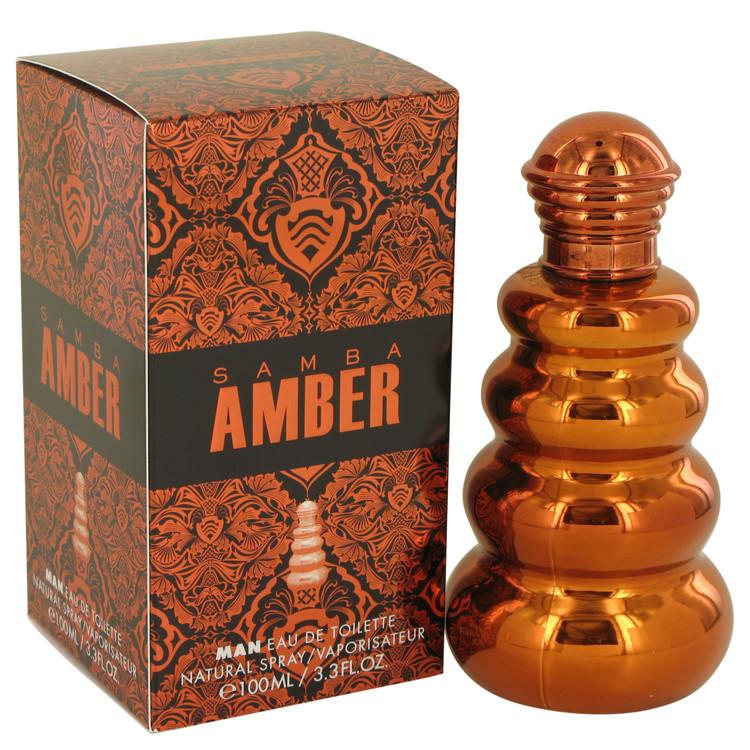 Samba Amber by Perfumers Workshop for Men Eau De Toilette Spray 3.4 oz