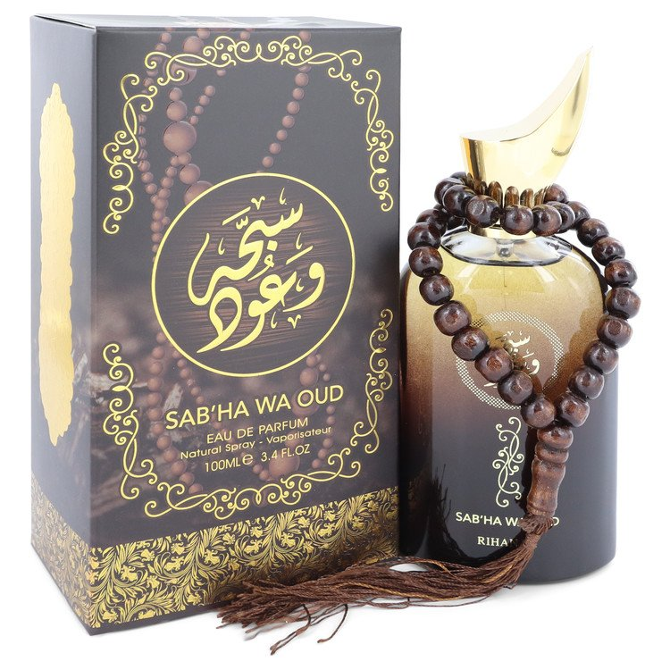 Sabha Wa Oud by Rihanah Eau De Parfum Spray (Unisex) 3.4 oz for Men