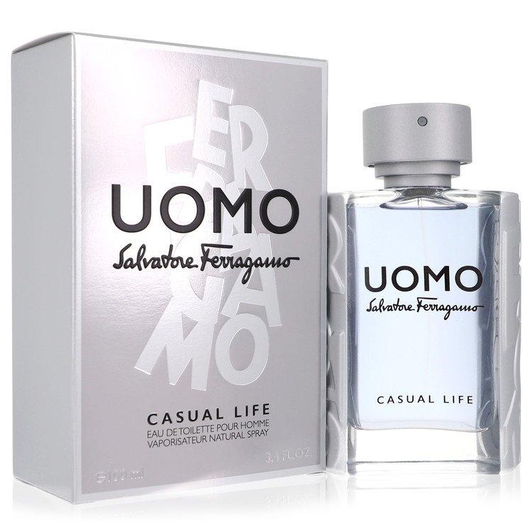 Salvatore Ferragamo Uomo Casual Life Cologne 3.4 oz EDT Spay for Men
