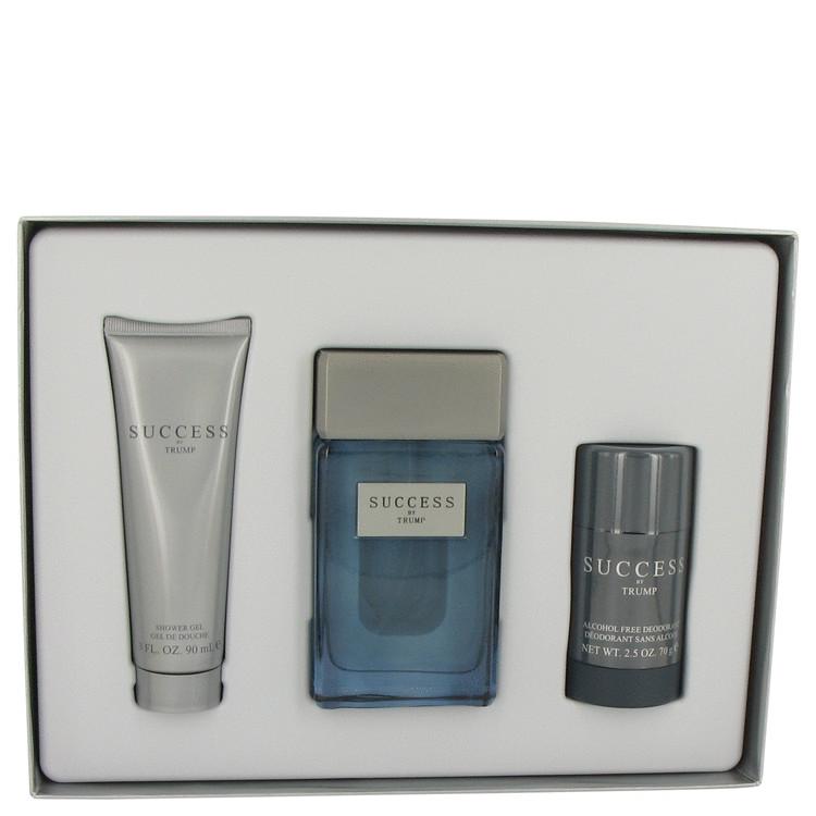 Success for Men, Gift Set (3.4 oz EDT Spray + 2.5 oz Alcohol Free Deodorant Stick + 3 oz Shower Gel)