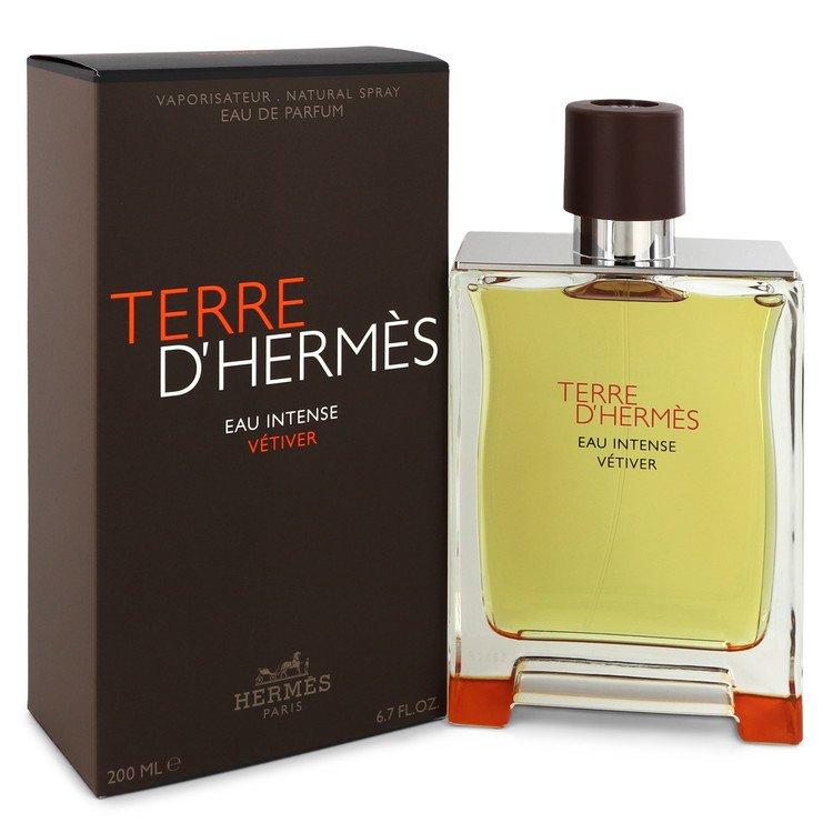 Terre D'hermes Eau Intense Vetiver by Hermes –  Eau De Parfum Spray 6.8 oz 200 ml for Men