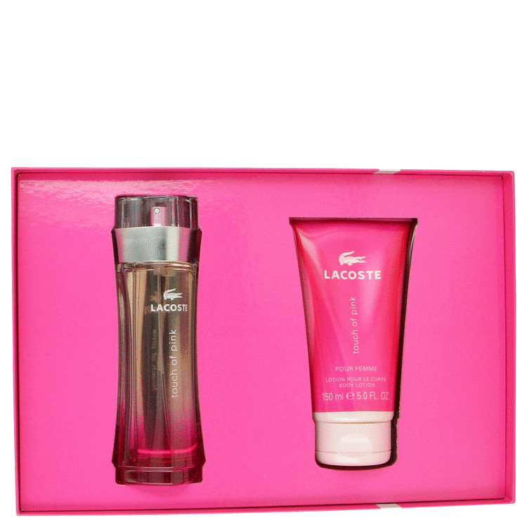 Touch Of Pink for Women, Gift Set (3 oz EDT Spray + 5 oz Body Lotion)