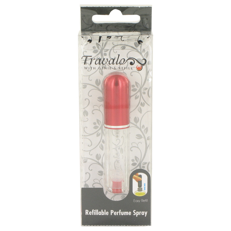 Travalo Travel Spray by Travalo for Men Mini Travel Refillable Spray with Cap Refills from Any Fragrance Bottle (Red) .135 oz