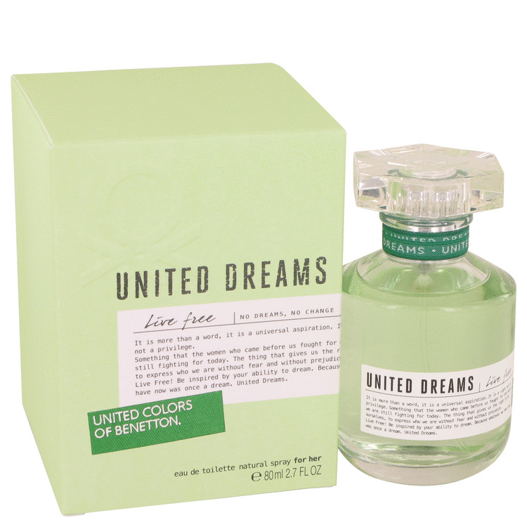 United Dreams Live Free Perfume by Benetton 2.7 oz EDT Spay for Women