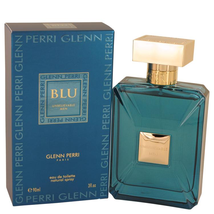 Unbelievable Blu by Glenn Perri for Men Eau De Toilette Spray 3 oz