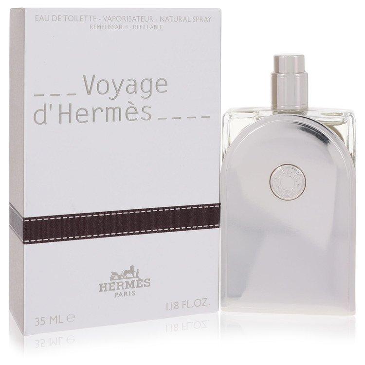 Voyage D'Hermes by Hermes for Men Eau De Toilette Spray Refillable 1.18 oz