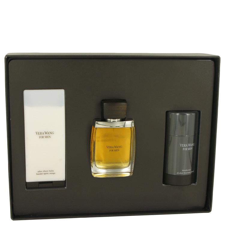 Vera Wang for Men, Gift Set (1.7 oz EDT Spray + 3.4 oz After Shave Balm + 2.5 oz Deodorant Stick)