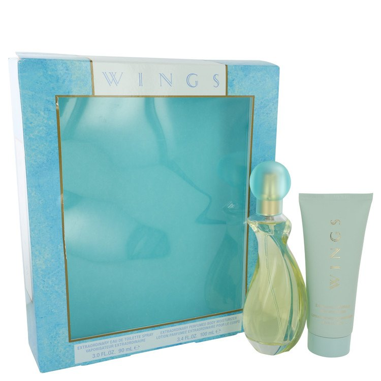 Wings Perfume by Giorgio Beverly Hills Gift Set - 3 oz Eau De Toilette Spray + 3.4 oz Body Moisturizer