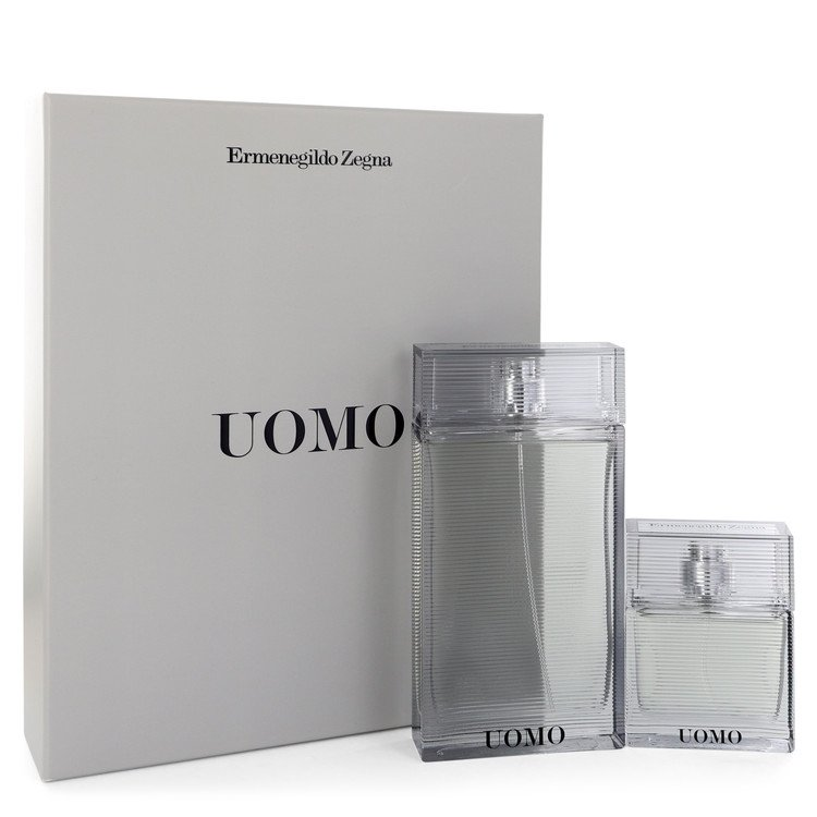 Zegna Uomo Cologne by Ermenegildo Zegna Gift Set - 3.4 oz Eau De Toilette Spray + 1 oz Eau De Toilette Spray