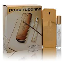 1 Million Cologne by Paco Rabanne -- Gift Set - 3.4 oz Eau de Toilette Spray + .68 oz Travel Spray