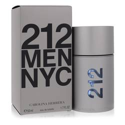212 Cologne by Carolina Herrera, 1.7 oz Eau De Toilette Spray (New Packaging) for Men