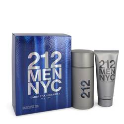212 Gift Set by Carolina Herrera Gift Set for Men Includes 3.3 oz  Eau De Toilette Spray + 3.3 oz After Shave Gel