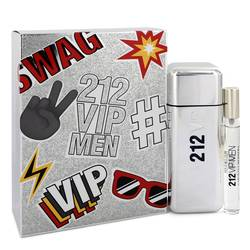 212 Vip Cologne by Carolina Herrera -- Gift Set - 3.4 oz Eau De Toilette Spray + .34 oz Mini EDT Spray
