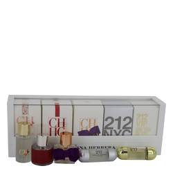 212 Perfume by Carolina Herrera -- Gift Set - Mini Set includes 212, 212 VIP, CH, CH Eau de Parfum Sublime, and CH L'eau in beautiful gift box.