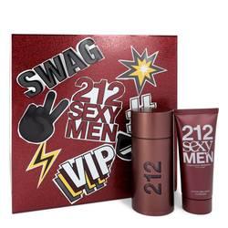 212 Sexy Cologne by Carolina Herrera -- Gift Set - 3.4 oz Eau De Toilette Spray + 3.4 oz After Shave Moisturizer