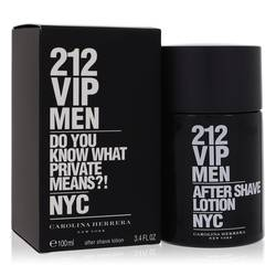 212 Vip After Shave by Carolina Herrera, 3.4 oz After Shave for Men