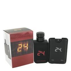 24 Go Dark The Fragrance Cologne by ScentStory 3.4 oz Eau De Toilette Spray + .8 oz Mini Pocket Spray
