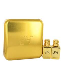 24 Gold Oud Edition Cologne by ScentStory -- Gift Set - 24 Gold 1.7 oz Eau De Toilette Spray + 24 Gold Oud 1.7 oz Eau De Toilette Spray