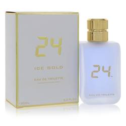 24 Ice Gold Cologne by ScentStory 3.4 oz Eau De Toilette Spray