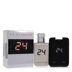24 Platinum The Fragrance Cologne by ScentStory 3.4 oz Eau De Toilette Spray + 0.8 oz Mini Pocket Spray