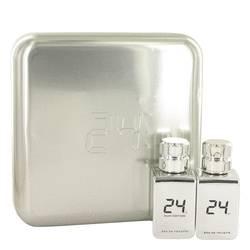 24 Platinum The Fragrance Cologne by ScentStory -- Gift Set - 24 Platinum 1.7 oz Eau De Toilette Spray + 24 Platinum Oud 1.7 oz Eau De Toilette Spray
