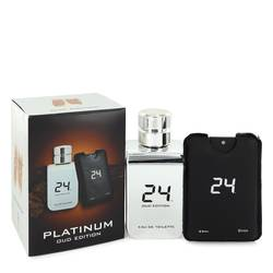 24 Platinum Oud Edition Cologne by ScentStory 3.4 oz Eau De Toilette Concentree Spray  + 0.8 oz {Pocket Spray (Unisex)