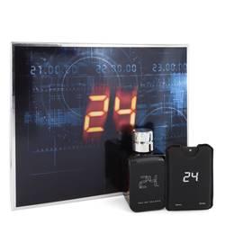 24 The Fragrance Cologne by ScentStory -- Gift Set - 3.4 oz Eau DE Toilette Spray + 0.6 oz Mini EDT Travel Spray