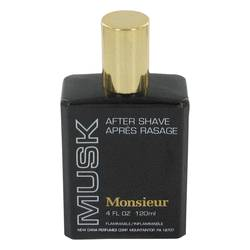 Monsieur Musk Cologne by Dana 4 oz After Shave (unboxed)