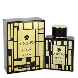 Adolfo Black by Adolfo – Eau De Toilette Spray 3.4 oz (100 ml) for Men
