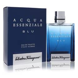 Acqua Essenziale Blu by Salvatore Ferragamo – Eau De Toilette Spray 3.4 oz (100 ml) for Men