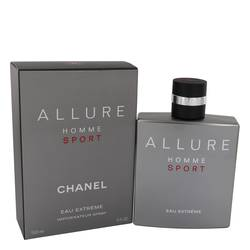 Allure Homme Sport Eau Extreme Cologne by Chanel, 5 oz EDP Spray for Men