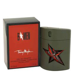 B Men Cologne by Thierry Mugler, 1 oz EDT Spray Rubber Flask for Men